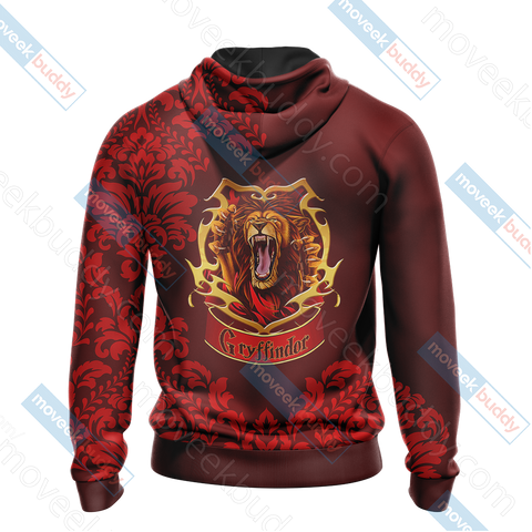 Image of Harry Potter - Brave Like A Gryffindor Version Lifestyle Unisex 3D Hoodie