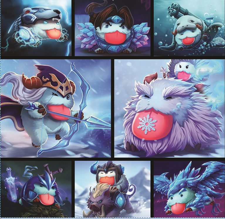 League Of Legends Poro Complication 3D Bed Set