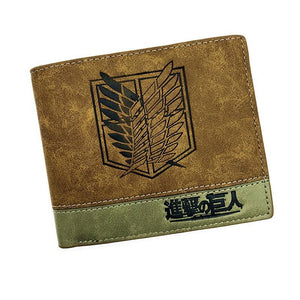 Japanese Anime Short Wallet With Coin