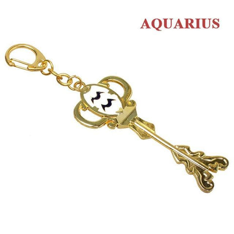 Image of Fairy Tail Lucy Summons Key Twelve Constellation Keychain