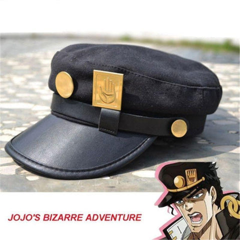 Image of Anime JoJo's Bizarre Adventure Jotaro Kujo Army Military JOJO Cap Cosplay