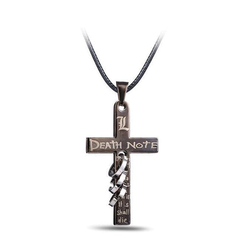 Death Note Necklace Cross Logo Pendant Cosplay Accessories