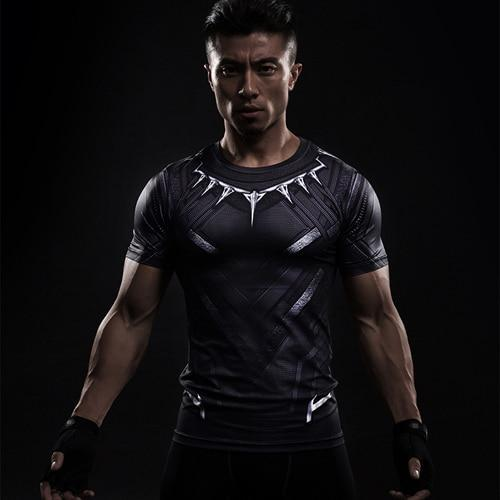 Marvel 3D Compression Shirt Male Short Sleeve