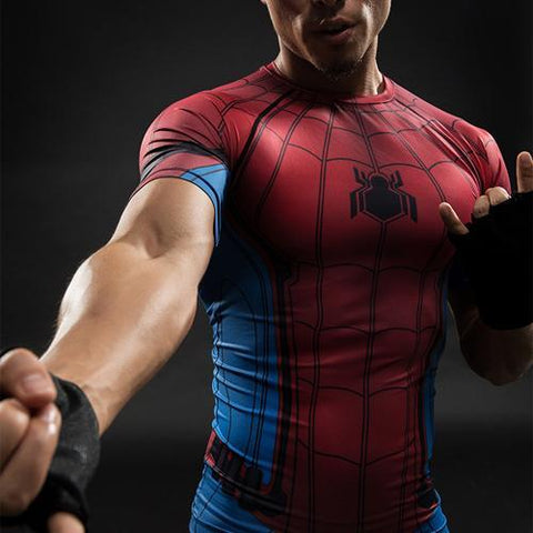 Image of Marvel 3D Compression Shirt Male Short Sleeve