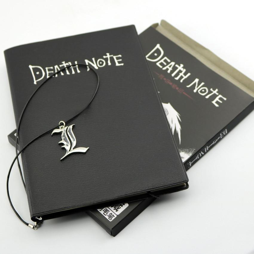 Anime Death Note Note + Necklace L