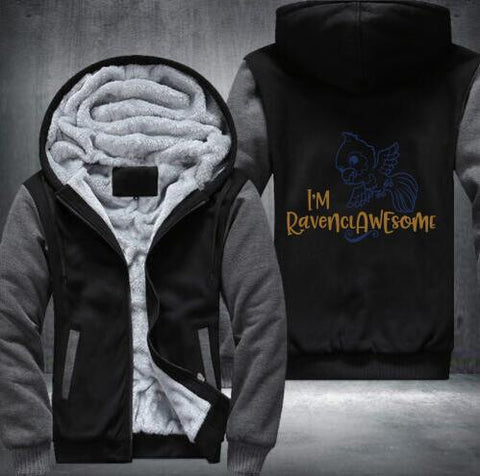 Image of Harry Potter Winter Zipped Hoodies Ravenclaw
