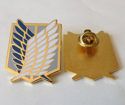 Image of Attack On Titan Badge Anime Peripheral Pins Scout Regiment Logo Brooch Survey Corps Erwin