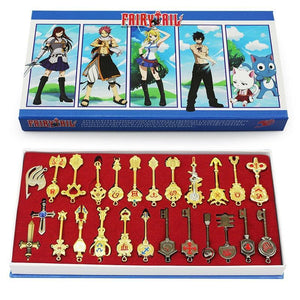 Fairy Tail Lucy Cosplay Key Keychain Collection