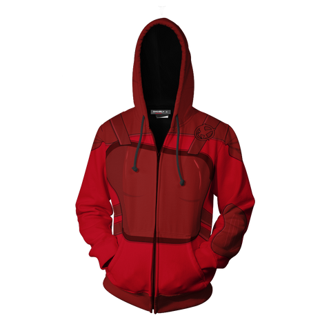 Image of The Hunger Games: Mockingjay Katniss Everdeen (Red) Cosplay Zip Up Hoodie Jacket