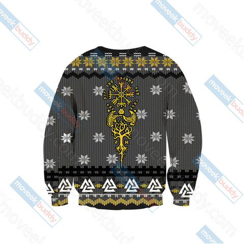 Image of Vikings Knitting Style Unisex 3D Sweater