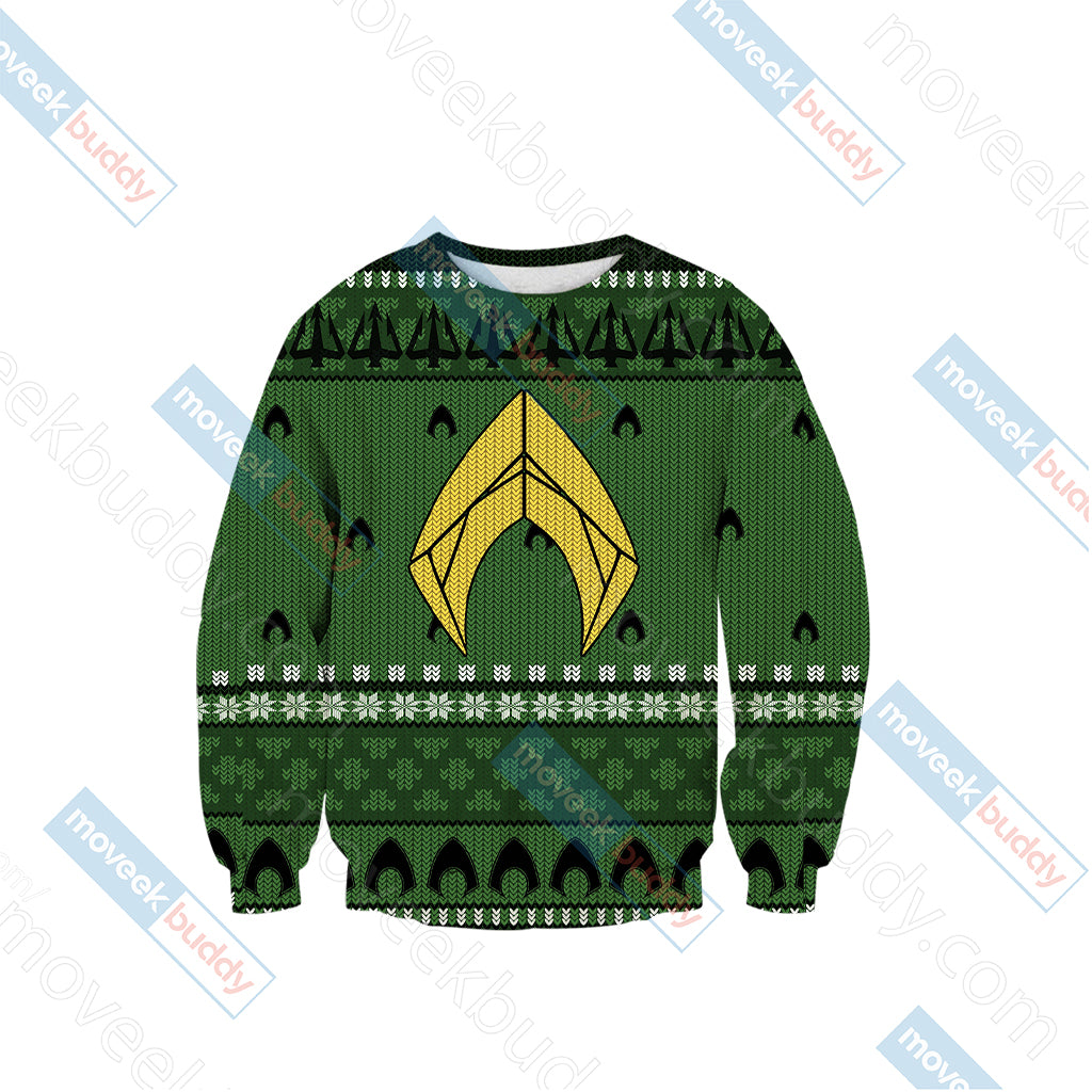 Aquaman Knitting Style 3D Sweater