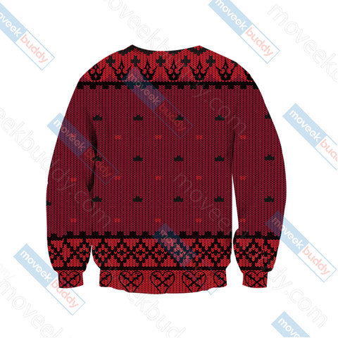 Image of Kingdom Hearts - Heartless Symbol Knitting Style Unisex 3D Sweater