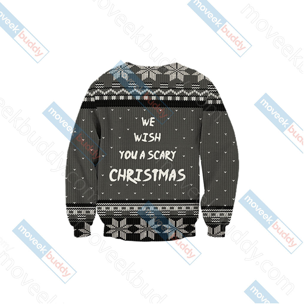 Nightmare Before Christmas - We wish you a scary christmas Unisex 3D Sweater