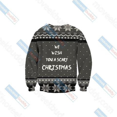 Image of Nightmare Before Christmas - We wish you a scary christmas Unisex 3D Sweater