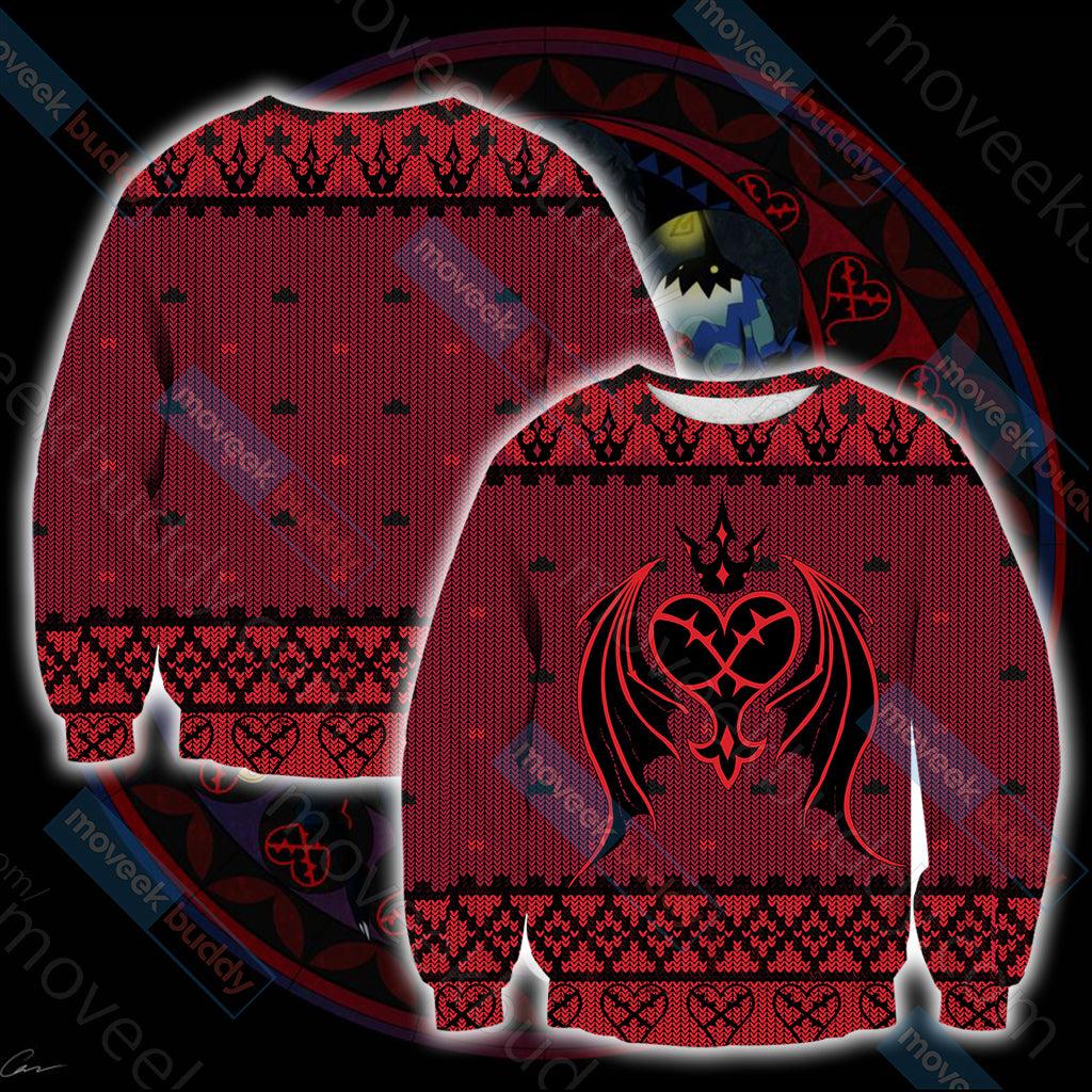 Kingdom Hearts - Heartless Symbol Knitting Style Unisex 3D Sweater