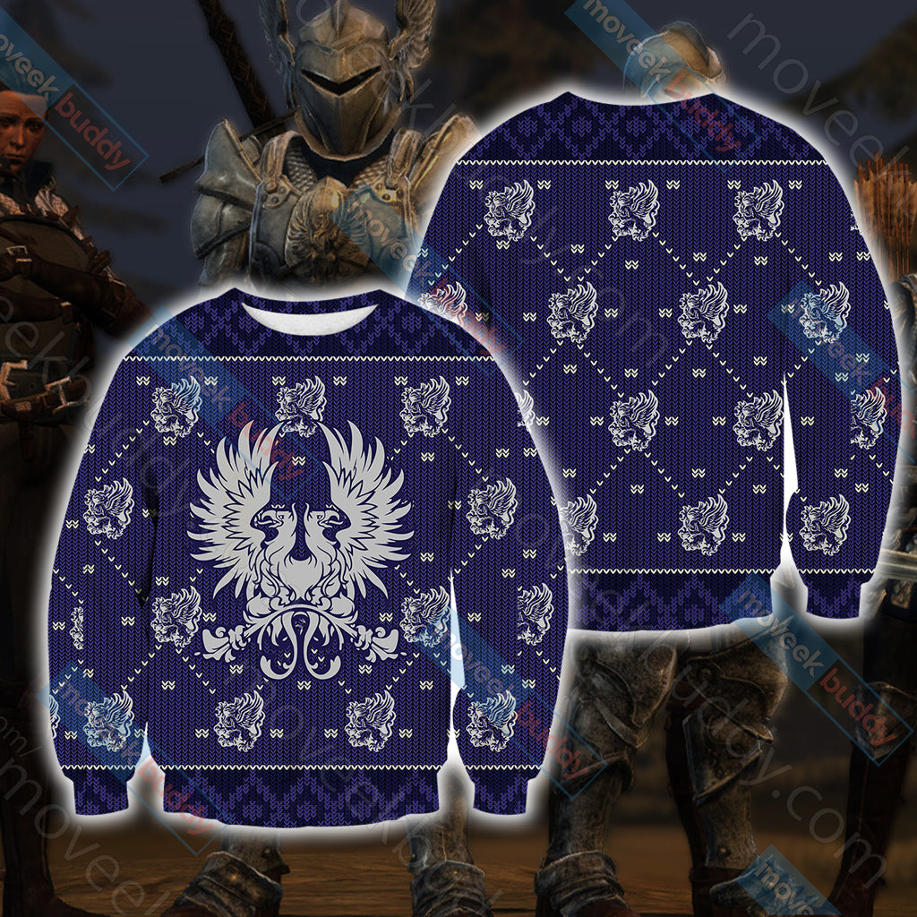 Dragon Age - Grey Wardens Unisex 3D Sweater