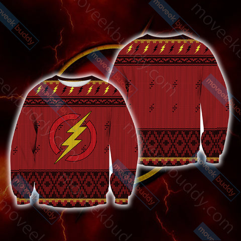 Image of The Flash Knitting Style Unisex 3D Sweater