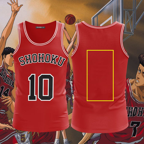 Image of Slam Dunk Team Shohoku (Customized Name+Number) Cosplay 3D Tank Top