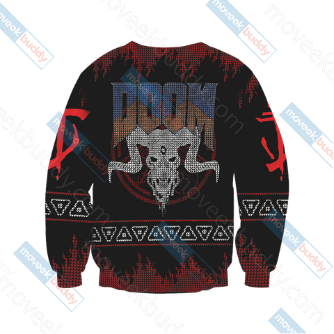Image of Doom Knitting Style Unisex 3D Sweater