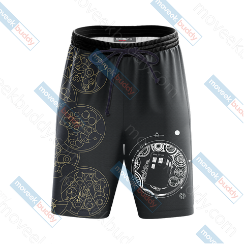 Doctor Who Tardis New Look Unisex 3D Beach Shorts