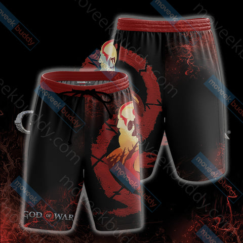 Image of God Of War New Version Unisex Beach Shorts