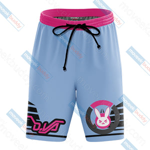 Overwatch - D.Va Symbol 3D Beach Shorts