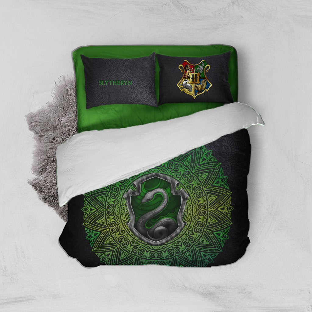 Hogwart House Slytherin Harry Potter Bed Set