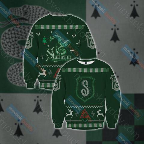 Image of Harry Potter - Cunning Like A Slytherin Winter Style Unisex 3D Sweater