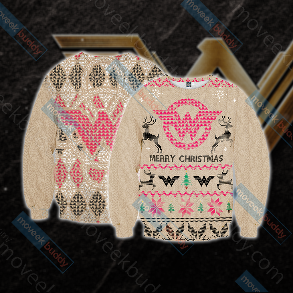 Wonderwoman Knitting Style Unisex 3D Sweater