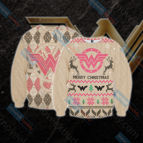 Image of Wonderwoman Knitting Style Unisex 3D Sweater