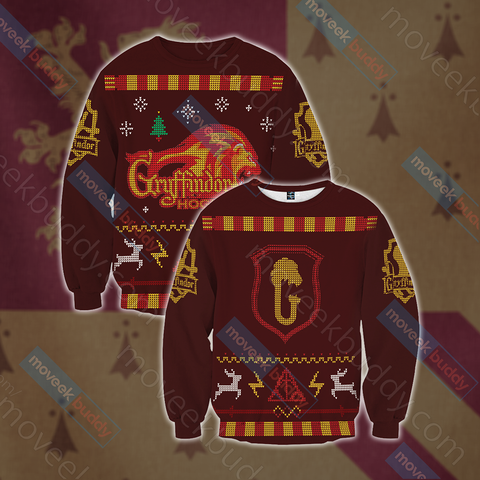 Image of Harry Potter - Brave Like A Gryffindor Winter Style 3D Sweater
