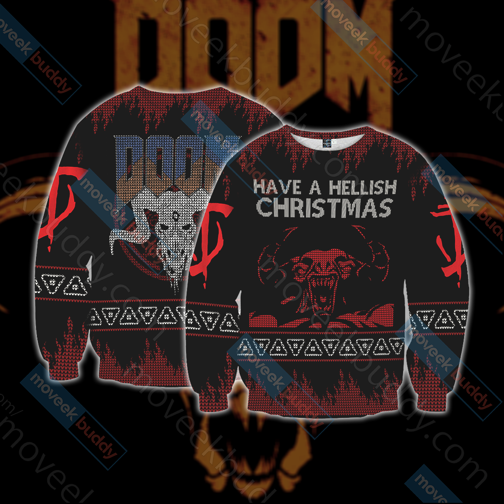 Doom Knitting Style Unisex 3D Sweater