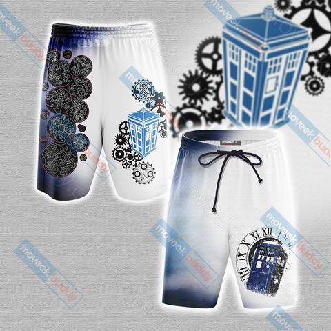 Doctor Who Tardis New Unisex 3D Beach Shorts