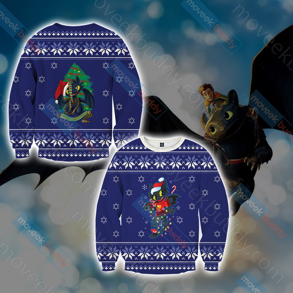 How To Train Your Dragon Christmas Style Unisex 3D Sweater