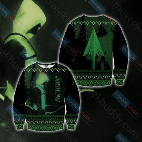 Arrow Knitting Style Unisex 3D Sweater