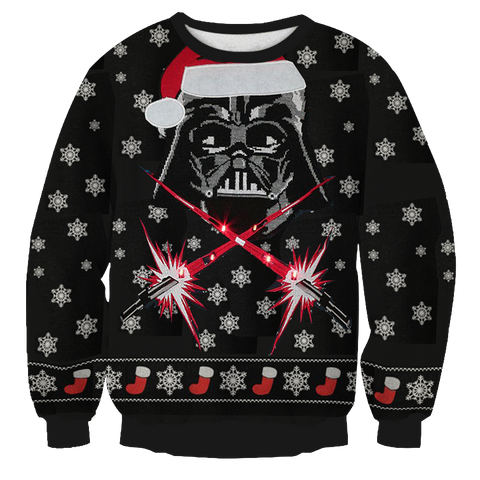 Star War Santa Clause Unisex 3D Sweater