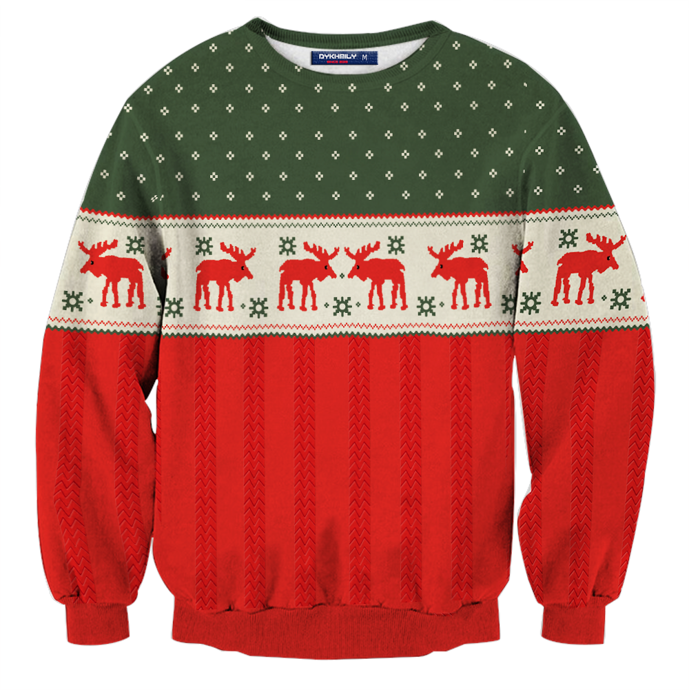 The Night Before (2015) Ethan Cosplay Ugly Christmas 3D Sweater