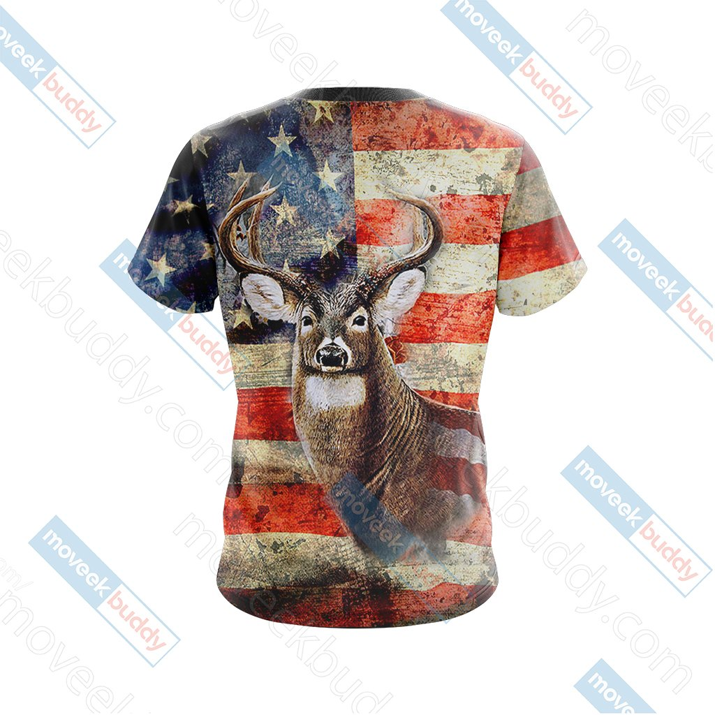 Hunting Us Flag Unisex 3D T-shirt