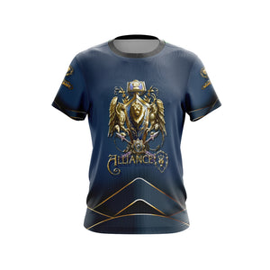 World Of Warcraft - Alliance races crest Unisex 3D T-shirt