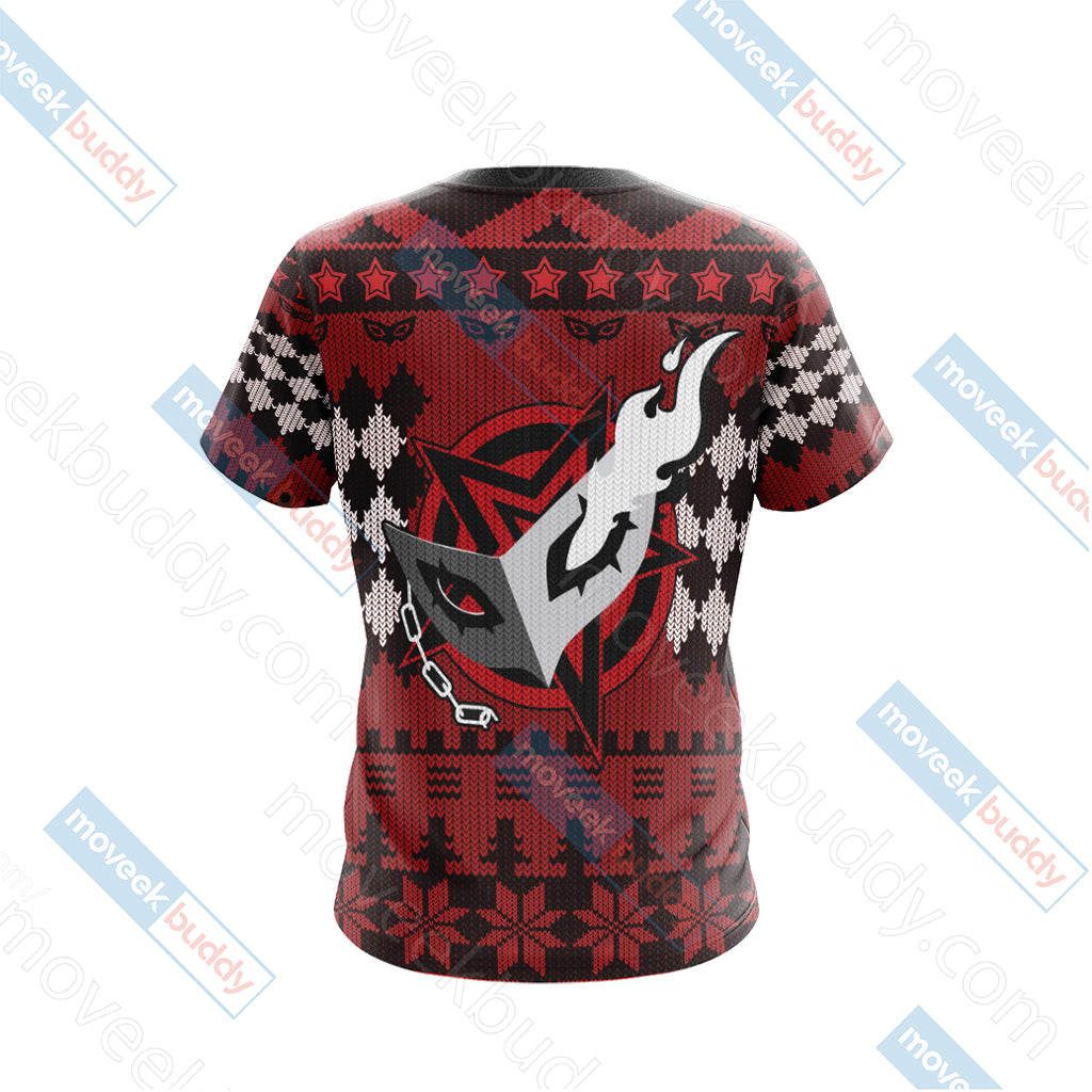 Persona 5 Christmas Style Unisex 3D T-shirt