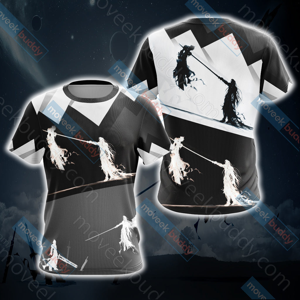 Final Fantasy 7 - Sephiroth v Cloud Unisex 3D T-shirt