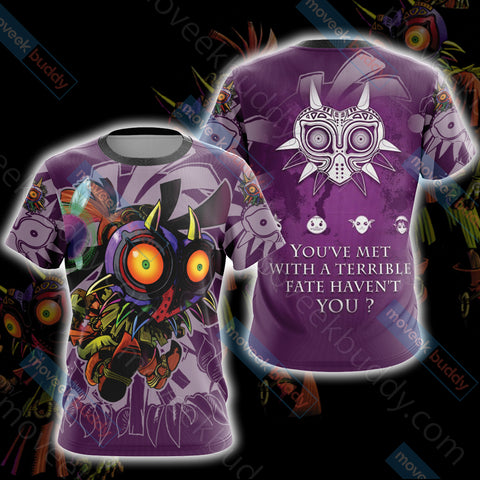 Image of The legend of Zelda: Majora's Mask Unisex 3D T-shirt