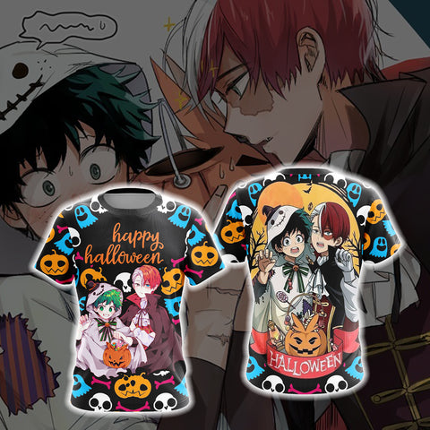 My Hero Academia - Deku and Todoroki Halloween Unisex 3D T-shirt