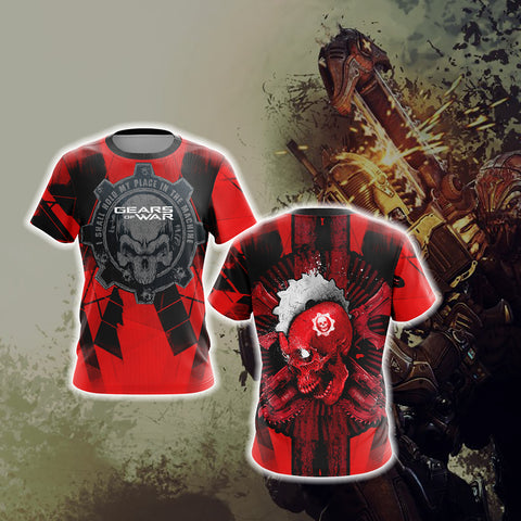 Gears Of War - I Shall Hold My Place In The Machine Unisex 3D T-shirt