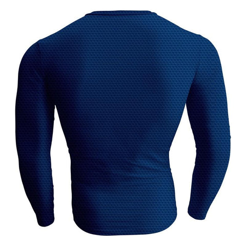 Image of Superman Christopher Reeve Cosplay Long Sleeve Compression T-shirt