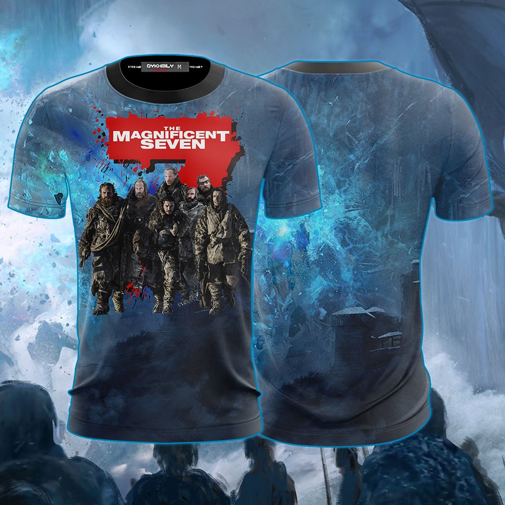 The Magnificent Seven Game Of Thrones Version Unisex 3D T-shirt