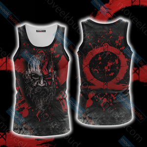God Of War Unisex 3D Tank Top