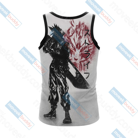 Image of Final Fantasy 7 Cloud Strife Unisex 3D Tank Top