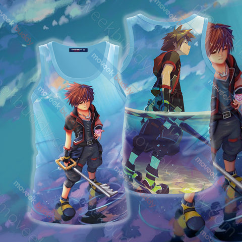 Image of Kingdom Hearts - Sora Unisex 3D Tank Top