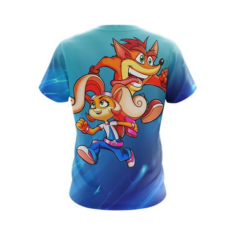 Crash Bandicoot - Crash and Coco Unisex 3D T-shirt